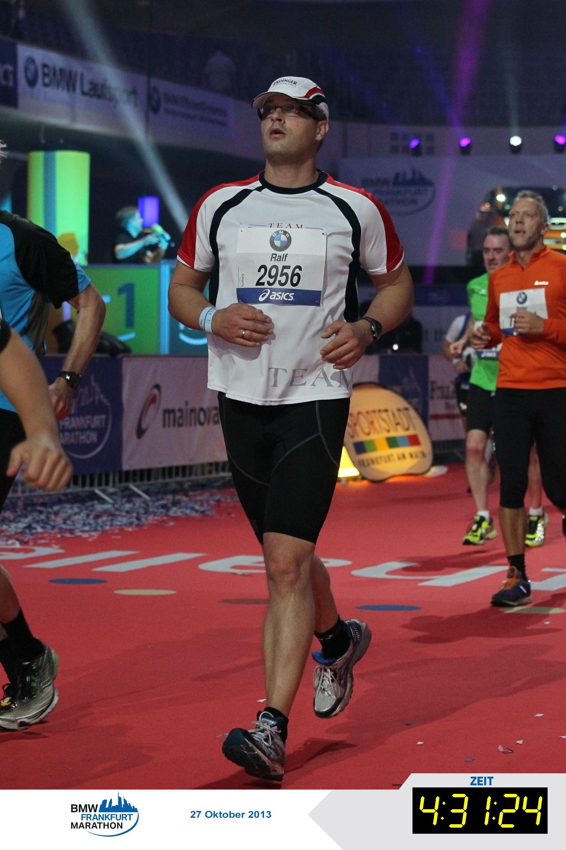 Zieleinlauf BMW Frankfurt Marathon 2013