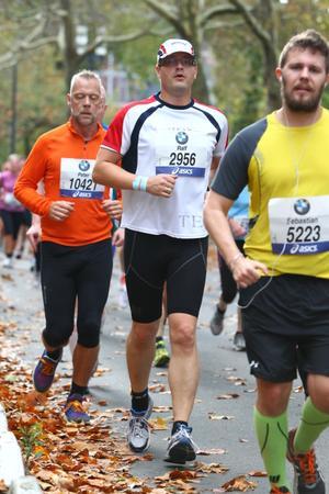 Auf der Marathon-Strecke. Wieder in Frankfurt